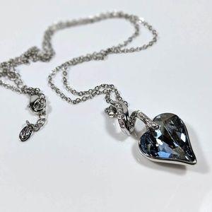 Jewelry - Aqua Crystal Heart Necklace